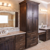 Master Bathroom with room for both of you